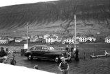 Bryggjan á Þingeyri í ágúst 1951. - LJÓSMYND/VIGFÚS SIGURGEIRSSON
